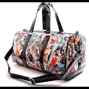 "Handbags - OBAMA Duffle Bag Luggage Collage 20"" 🦋NWT"